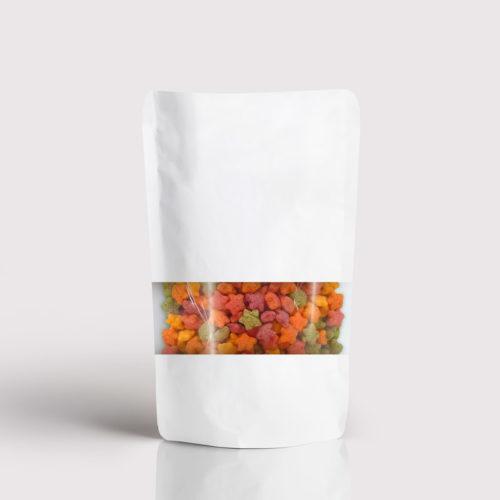 Doypack Envase flexible papel blanco con ventana