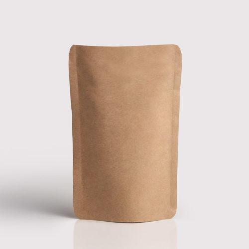 Doypack Envase flexible papel marron con ventana