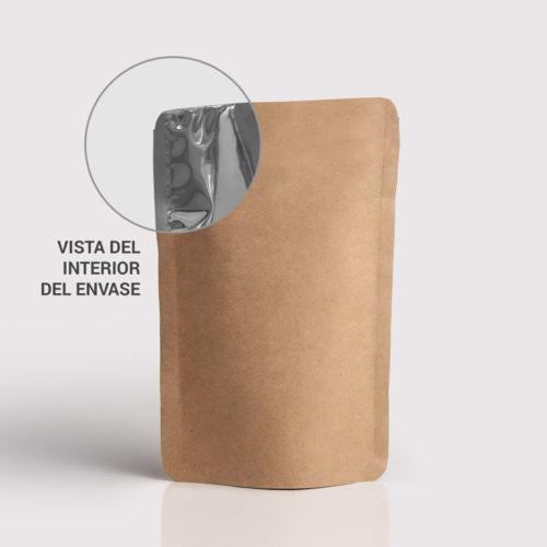 Doypack Envase flexible papel marron